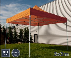 Barnum pliant SEMI PRO métal 3x3m orange HD