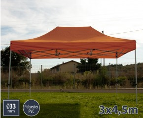 Barnum pliant SEMI PRO métal 3x4,5m orange HD