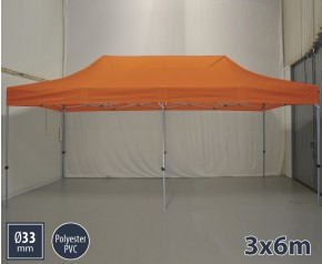 Barnum pliant SEMI PRO métal 3x6m orange HD