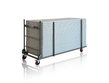 Trolley transport tables pliantes